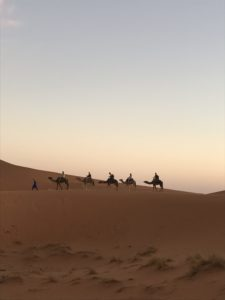 One night in the dessert near Merzouga